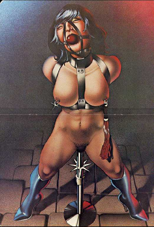 pole Metal prison one bondage